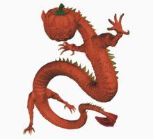 Orange Halloween Dragon Kids Tee