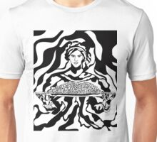 Woman presenting holiday platter. Unisex T-Shirt