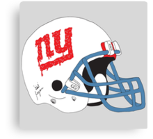 NY Giants Helmet Drips Canvas Print