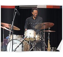 Brian Blade Happy Drummer Poster