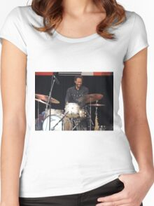Brian Blade Happy Drummer Women's Fitted Scoop T-Shirt