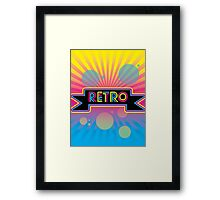Retro! Framed Print