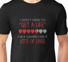 Gamer's Have Lots of Lives Unisex T-Shirt