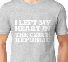 I Left My Heart In The Czech Republic Love Native T-Shirt Unisex T-Shirt