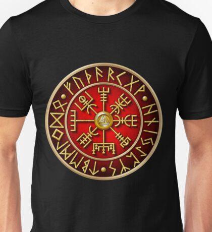 Norse Vegvisir Runes - Red Unisex T-Shirt