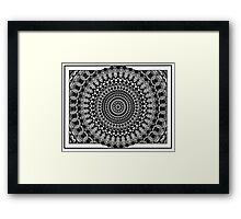 Circular Oblivion Framed Print