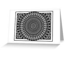 Circular Oblivion Greeting Card