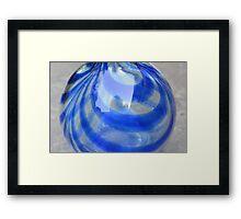 Blu Vase Framed Print
