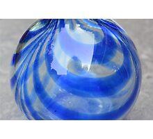 Blu Vase Photographic Print