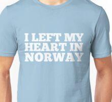 I Left My Heart In Norway Love Native Homesick T-Shirt Unisex T-Shirt
