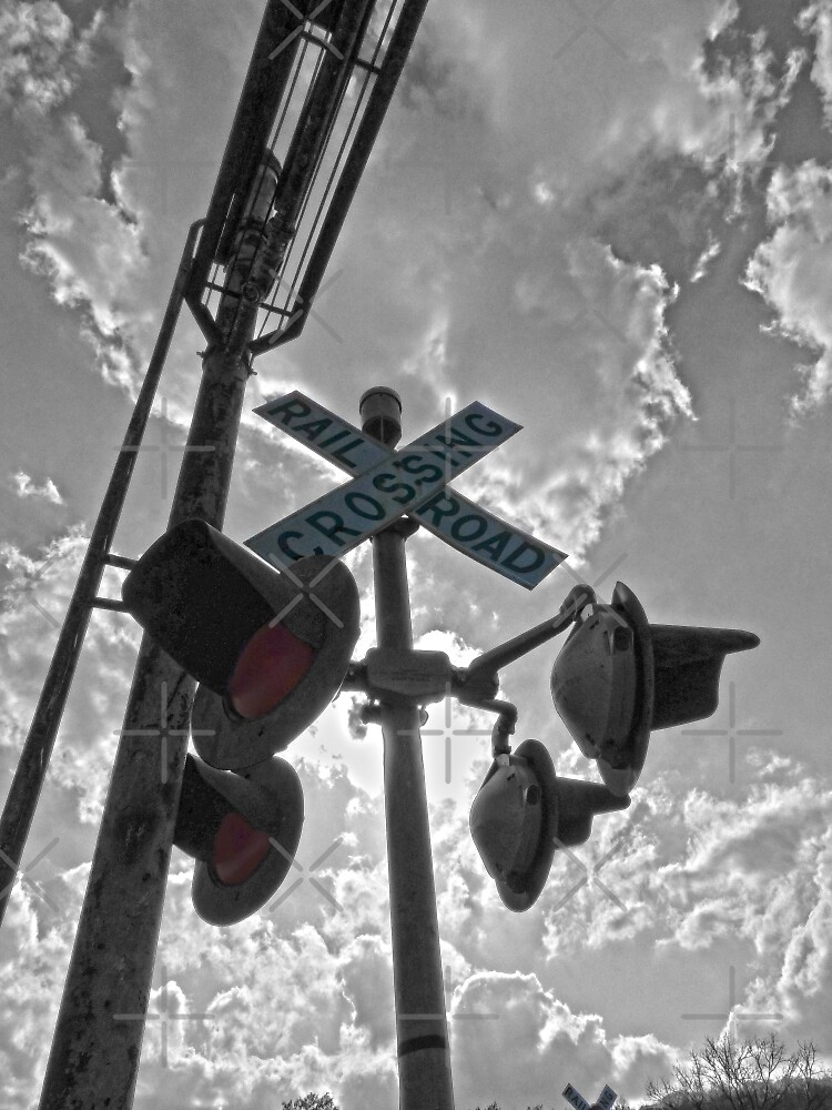 RR Crossing Sign by Susan S. Kline