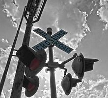 RR Crossing Sign by Susan S. Kline