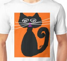halloween black cat Unisex T-Shirt