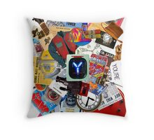 Back to the Future Trilogy MIX (saturated version) Throw Pillow