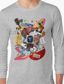 Back to the Future Trilogy MIX (saturated version) Long Sleeve T-Shirt
