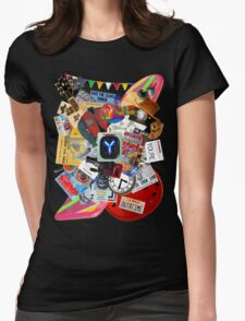 Back to the Future Trilogy MIX (saturated version) Womens Fitted T-Shirt
