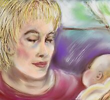 Mother and Baby 2 by Janette  Leeds