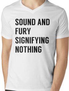 Sound & Fury Mens V-Neck T-Shirt
