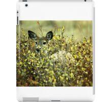 Deer in brush iPad Case/Skin