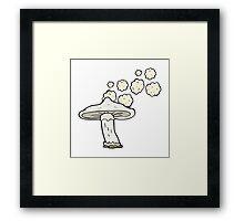 cartoon mushroom  Framed Print