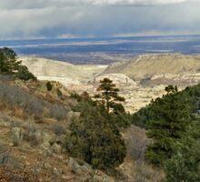 Looking Down Deer Creek Canyon in Denver, Colorado Sticker