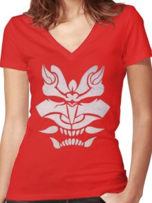 White Oni Women's Fitted V-Neck T-Shirt