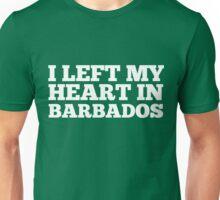 I Left My Heart In Barbados Love Native Homesick T-Shirt Unisex T-Shirt