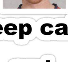 Keep calm and Gustav ON! Sticker