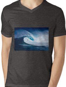 Big waves Mens V-Neck T-Shirt