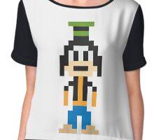 Goofy 8-Bit Chiffon Top