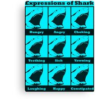 Expressions of Shark Canvas Print