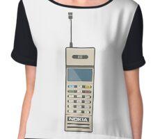 Retro Phone 80s Electronics Chiffon Top