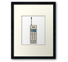 Retro Phone 80s Electronics Framed Print