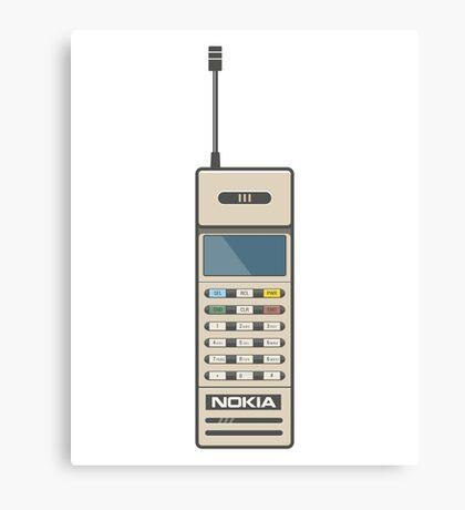 Retro Phone 80s Electronics Canvas Print