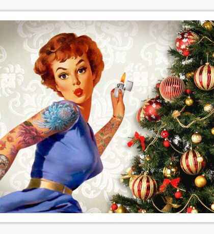 Christmas Pin-Up - Light up your Christmas Sticker