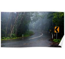 In the Clouds on Mount Glorious Road Poster