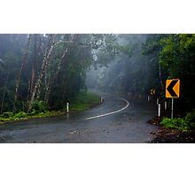 In the Clouds on Mount Glorious Road Photographic Print