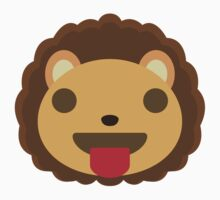 Cute Lion Emoji Tongue Out Baby Tee