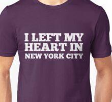 I Left My Heart In New York City Love Native T-Shirt Unisex T-Shirt