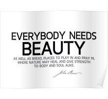 everybody needs beauty - john muir Poster
