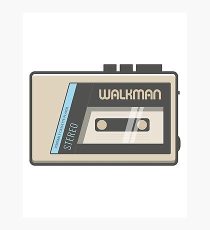 Retro Walkman Music Player 80s Electronics Photographic Print