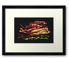 Bed of autumn Framed Print