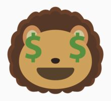 Cute Lion Emoji Money Face Baby Tee