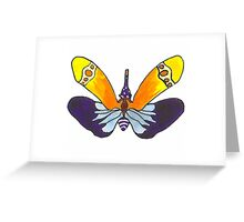 Colorful Moth Greeting Card