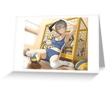 Sporty Dodgeball Anime Girl Greeting Card
