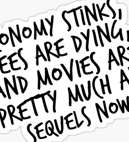 Economy Stinks Sticker