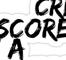 Credit Score Sticker