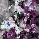Purple Abstract Art Print by Deniz Akerman