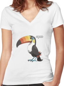 Thou can not! {Toucannon - Pokemon} Women's Fitted V-Neck T-Shirt