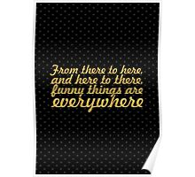 """From there to... """"Dr. Seuss"""" Inspirational Quote Poster"""